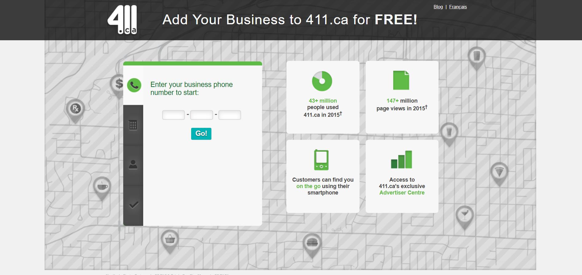 411.ca Canada create a free ad